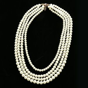 Luxury Pearl Necklace Gold/White NWOT
